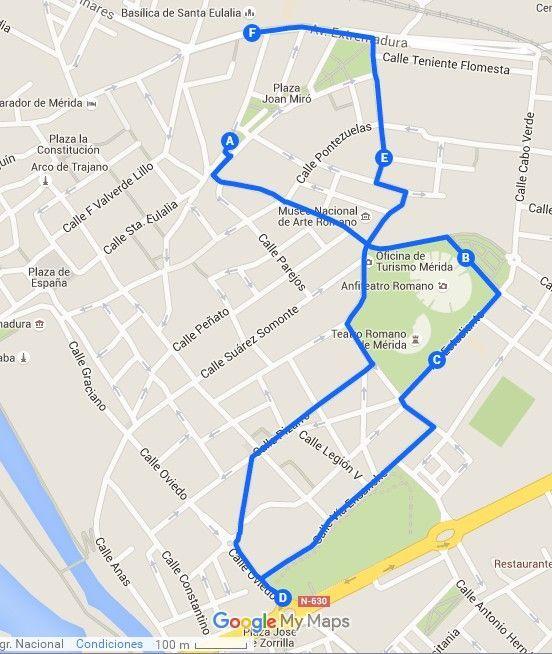Mapa ruta 3 merida - Los viajes de Margalliver